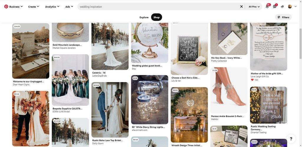 Pour trouver des idées pour votre mariage, Pinterest est une référence absolue !